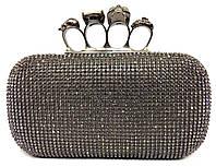 Женская сумка клатч 73 вечерний со стразами и кастетом