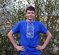 Мужская футболка с светло серым орнаментом