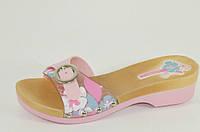 Шлепанцы женские пляжные розовые Б605