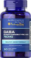 Активный стимулятор гормона роста Puritan's Pride GABA 750 мг (90 капс)