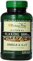 Комплекс незаменимых жирных кислотPuritan's Pride flaxseed oil 1000 мг 240 порц. (240 капс)