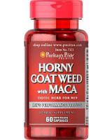 Предтренировочный комплекс Puritan's Pride Horny Goat Weed with Maca 500 мг (60 капс)