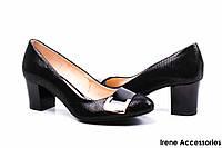 Туфли женские нубук на каблуке Stillo Польша