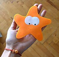 Морская звезда с глазами . Коврик резиновый