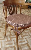 Сидушка круглая коричневая кофейные зерна