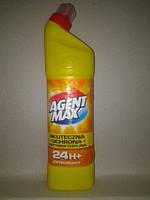 Средство для чистки унитаза Agent Max -Цитрус, антибактериальное