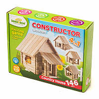Конструктор из дерева Загородный домик 146 деталей Игротеко (Загор)