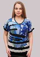 Трикотажная футболка со стазами, фото 1
