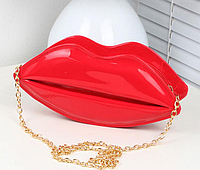 Сумочка - Губки - красная, с двумя ручками в комплекте