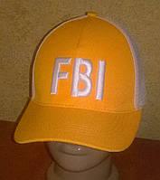 """Стильные бейсболки """"FBI"""" с сеткой"""