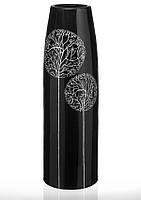 Ваза керамическая высокая глянцевая черная из коллекции Деревья.