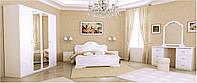 Спальный гарнитур Futura / Футура (6 элементов, белый глянец, лесной орех, радика махонь, перо рубино)