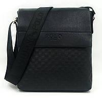 Мужская кожаная сумка бренд Polo