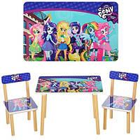 Детский столик и два стульчика 501-9-2 Little Pony