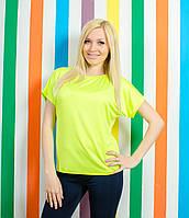 Женская летняя футболка лимонная , фото 1