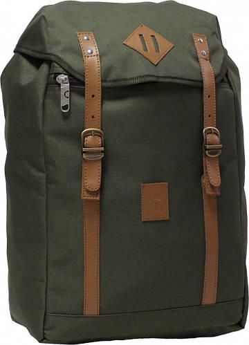 Городской рюкзак  цвета хаки Bаgland Successful на 17 л  0050466-3