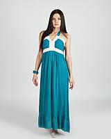 Модный оригинальный макси сарафан с декором