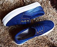 Стильные джинсовые женские слипоны на лето AllShoes
