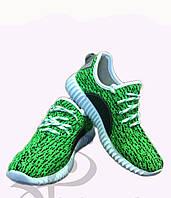 Трендовые молодежные кроссовки Зеленые