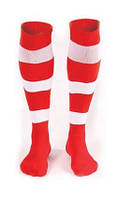 Гетры футбольные Liga Sport (красный+белый)