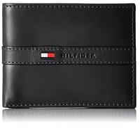Кошелек (портмоне) мужской кожаный Tommy Hilfiger черный