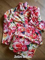 Теплый домашний костюм -пижама больших размеров