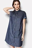 Джинсовое женское платье-рубашка MOCA