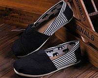 Мужские эспадрильи Toms (Томс, оригинал) черные