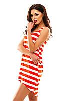 Женское летнее платье майка  в полоску
