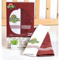 "Махровые полотенца для кухни Turkiz ""Киви"" 50х70 - Турция"
