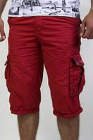 Мужские бриджи бордового цвета