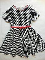 Платья для девочек черно-белое, одежда для девочек 4-9 лет