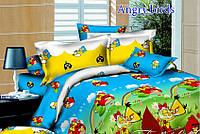 Постельный комплект полуторный детский, Angry Birds