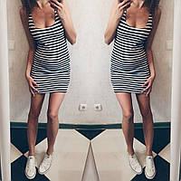 Платье-тельняшка короткое  аг05