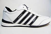 Мужские кроссовки Bona, кожа, белые, Р. 41 42 43 44 45 46