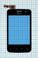 Тачскрин сенсорное стекло для LG E435 Optimus L3 II Dual black