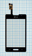 Тачскрин сенсорное стекло для LG E440 Optimus L4 II black
