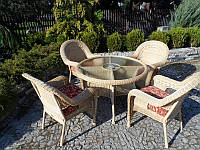 Комплект садових меблів. IZA MINI DE LUX. Стіл + 4 крісла