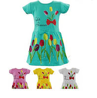 Детское платье на девочку (тюльпаны) 1-5 лет
