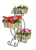 Подставки  кованые для цветов,парус 3 кантри