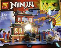 "Конструктор Lele Ninja (аналог Lego Ninjago) 79140 ""Огненный Храм"", 1210 дет."