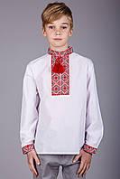 Стильная вышиванка для мальчика на длинный рукав