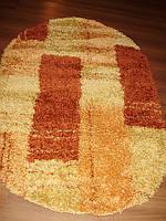 Высоковорсный  пушистый ковёр First Shaggy 4009 сомон