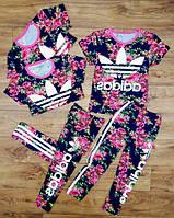 "Костюм ""Adidas"" лосины + футболка, на рост 86 -116"