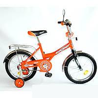 Tilly Велосипед EXPLORER диаметр колес 16 дюймов оранжевый с черным