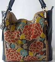 Удобная и стильная сумка со стразами и кожаными ручками от Velina Fabbiano