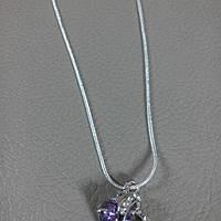 Кулон подвеска с цепочкой Violet Heart