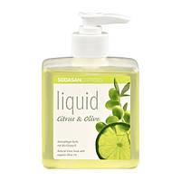 Мыло SODASAN органическое Citrus-Olive жидкое, бактерицидное с цитрусовым и оливковым маслами 0.3 л