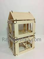 Двухэтажный кукольный домик-конструктор (конcтруктор из дерева)
