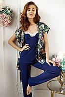 6212-6+6708 комплект женский майка+брюки и блуза Anabel Arto